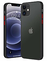cheap -compatible with iphone 12 case, iphone 12 pro case, translucent matte shockproof protective slim fit anti-fingerprint hard case cover compatible with iphone 12, iphone 12 pro (black)