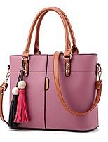 cheap -lady women's soft leather top-handle handbags work place shoulder tote bag bordeaux