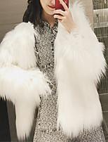 cheap -Long Sleeve Coats / Jackets Faux Fur Wedding Bolero With Fur