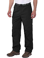 cheap -men's stretch convertible pants zip-off quick dry hiking pants black size xxl