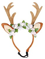 cheap -pet adjustable reindeer headband dog puppy christmas antelers headress