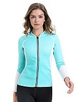 cheap -neoprene sauna suit tops workout coat running jacket sweaty slimming for women loss weight body shaper #t045 blue l