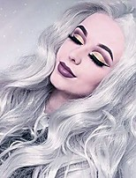 cheap -sliver wig grey 18 inches long gray synthetic wig wavy wigs for women cosplay