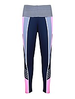 cheap -Women's Sporty Breathable Daily Pants Pants Patterned Ankle-Length Stripe Print Blue