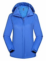 cheap -doric womens outdoor climbing two-piece detachable windproof warm thickened long sleeve hooded windbreaker blue