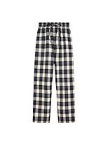 cheap -Women's Comfort Daily Pants Chinos Pants Plaid Checkered Full Length Drawstring Black