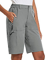 cheap -women's quick dry hiking cargo shorts with zippered water resistantfor camping, travel light grey size 2xl