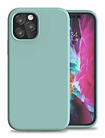 "cheap -compatible with iphone 12 pro max silicone case 6.7"", slim liquid silicone gel rubber full body protection shockproof drop protection case with soft anti-scratch microfiber lining,gem green"