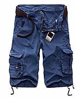 cheap -men's casual tactical shorts quick-dry shorts camo pants with zip pocket, camping, travel