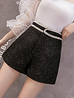 cheap -Women's Basic Streetwear Comfort Daily Going out Shorts Pants Solid Colored Short Black