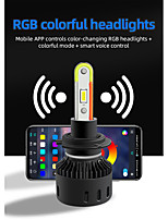 cheap -RGB Auto Led Headlight Kits 2 in 1 Smartphone App-enabled RGB  LED Headlight Conversion FOR H4 H7 H11 9005 9006
