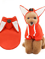 cheap -Dog Coat Hooded Shirts Tracksuit Fox Thick Velvet Casual / Daily Dog Clothes Puppy Clothes Dog Outfits Warm Orange Costume for Girl and Boy Dog Fleece S M L XL XXL