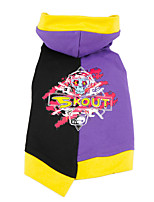 cheap -Dog Cat Coat Jacket Geometic Fashion Casual / Daily Winter Dog Clothes Puppy Clothes Dog Outfits Breathable Purple Blue Costume for Girl and Boy Dog Fleece XS S M L XL XXL