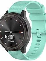 cheap -fit for samsung galaxy watch active 2 40mm/ 44mm watch bands, 20mm silicone adjustable replacement band straps wristbands for garmin vivoactive 3, ticwatch 2/e watch for women men (green)