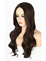 cheap -women wigs dark brown long wavy halloween costumes cosplay wig