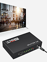 cheap -1 x 4 HDMI Splitter Converter 1 In 4 Out HDMI 1.4 Splitter Amplifier HDCP 1080P Dual Display for HDTV DVD PS3 Xbox