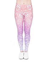 cheap -Women's Sporty Comfort Skinny Gym Yoga Leggings Pants Patterned Ankle-Length Print High Waist Blushing Pink