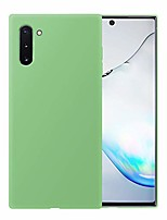 cheap -liquid silicone phone case for samsung galaxy note 10 /full body protection/shockproof/gel rubber/cover case drop protection green