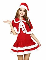 cheap -miss santa suit adult sweetie christmas halloween party costume dress red