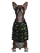 cheap -Dog Shirt / T-Shirt Geometric Quotes & Sayings Casual / Sporty Fashion Christmas Casual / Daily Winter Dog Clothes Puppy Clothes Dog Outfits Breathable Green Costume for Girl and Boy Dog Polyster S M