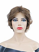 cheap -onemily short hair choppy layers synthetic wigs for women girls light brown
