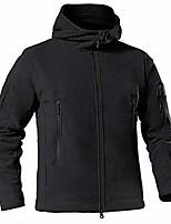 cheap -men's winter warm fleeced jacket winter windproof army tactical coats full zipper fishing hoodie black