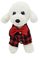 cheap -pet dogs lattice shirt coat plaid dress suit costume puppy button jacket party outfits (red, m)