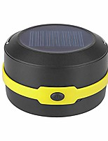 cheap -portable camping lantern collapsible design solar or usb, chargeable emergency power bank, for camping hiking fishing, power cuts, emergencytravel, yellow