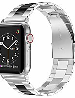 cheap -stainless steel compatible with apple watch band 38mm 42mm women men,ultra-thin lightweight color matching replacement compatible for iwatch bands series 6 5 4 3 2 1 (38mm 40mm, black+silver)
