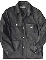 cheap -l.c. king made in usa men's dark charcoal denim chore coat (xs)