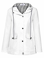 cheap -women's rain outdoor travel jackets waterproof windbreaker long sleeve raincoats windproof trench hiking coats loose (2xl, white)