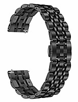 cheap -band for galaxy watch 3 45mm men, 22mm solid metal stainless steel watchband butterfly buckle strap wristband for samsung galaxy watch3 45mm / galaxy watch 46mm / gear s3 smartwatch