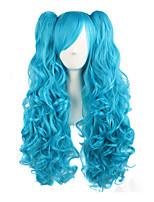 cheap -28/70cm Lolita Long Curly Clip on Ponytails Cosplay Wig