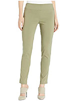 cheap -women's control stretch pull-on ankle pants with back slit detail sage 16 29