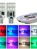 cheap -1Set 5050 RGB LED Multi Color Light Car Wedge Side Bulbs Width Lamp Strobe Lights Reading Lamp 12V