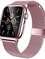 cheap -stainless steel bands compatible with apple watch band 42mm, screen protector for iwatch series 3/2/1, adjustable metal magnetic strap sport bracelet loop women/men (rose gold)