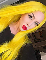 cheap -yellow synthetic wigs none lace straight replacement wigs heat resistant full machine synthesis wigs for party cosplay daily wear
