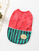 cheap -Dog Shirt / T-Shirt Vest Watermelon Elegant Cute Casual / Daily Winter Dog Clothes Puppy Clothes Dog Outfits Breathable Pink Costume for Girl and Boy Dog Cotton S M L XL XXL 3XL