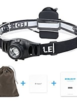 cheap -focusing headlamp, 350 lumens  led headlamp whit dimmer control, ip65 water-resistant, 12 hours powerful headlight for camping, hiking, running & reading, 3 aaa batteries not included