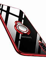 cheap -galaxy a50 case clear with design, soft tpu silicone slim case with 360 rotatable ring kickstand transparent flexible cover for samsung galaxy a50 - red