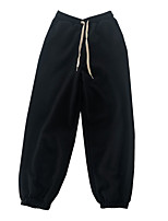 cheap -Women's Basic Comfort Daily Going out Jogger Sweatpants Pants Solid Colored Full Length Pocket Drawstring Black Beige