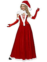 cheap -mrs. santa claus adult costume, red/white, large