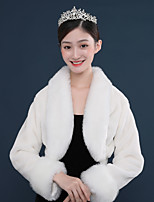 cheap -Long Sleeve Shawls Polyester Wedding / Party / Evening Shawl & Wrap / Women's Wrap With Solid