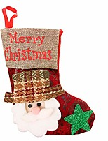 cheap -christmas stockings, santa snowman reindeer tree stockings cuff stockings fireplace hanging decorations