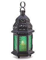 cheap -green glass moroccan candle holder hanging lantern
