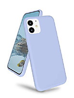 "cheap -liquid silicone iphone 11 6.1"" case, ultra slim full body shockproof protective phone case with microfiber cloth lining gel rubber covers for iphone 11(2019), lavender gray"