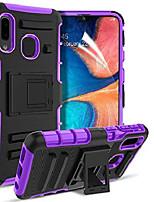 cheap -for samsung galaxy a10e case,galaxy a10e/samsung galaxy a20e case [built-in kickstand] with hd screen protector[2 pcs] heavy duty shockproof full-body protective case (purple)