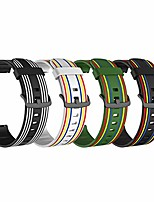 cheap -compatible with garmin vívomove luxe bands replacement accessory colourful silicone bracelet 20mm strap band for vivomove luxe smartwatch, soft and durable (4colorsa)
