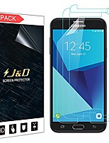 cheap -j&d compatible for samsung galaxy j7 2017/galaxy j7 v/galaxy j7 perx/galaxy j7 sky pro screen protector (3-pack), not full coverage, hd clear protective film shield screen protector