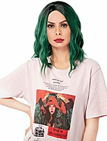 cheap -women's short bob loose wave black green wig halloween cosplay wig anime costume party wig